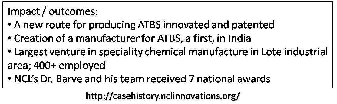 ATBS production : A first for India The Technology Legacy of NCL